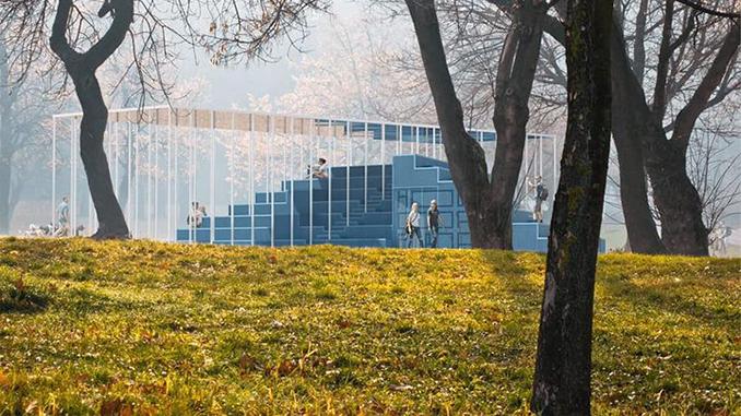 Мобильный павильон на Соборной площади House of Europe, Агентство развития Николаева