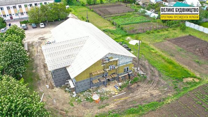 Велике Будівництво, строительство амбулатории в Галицыново