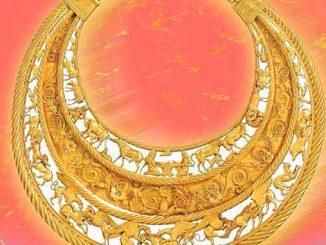 О Золотой пекторали, Золотая пектораль, скифы, история, археология, наука, исследование, ювелирное украшение, пектораль, символы, Толстая могила, археология, история,