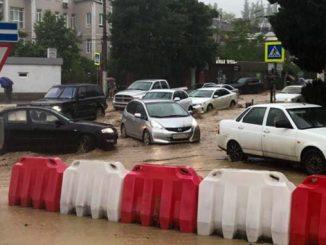 Крым, Ялта, потоп, дожди