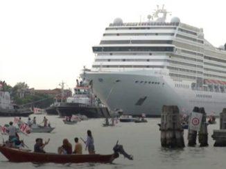 Венеция, лайнер, протест, пандемия, коронавирус в Италии