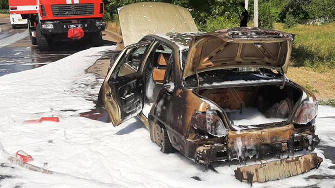 В Николаеве загорелся Дэу, происшествия, полиция, ГСЧС