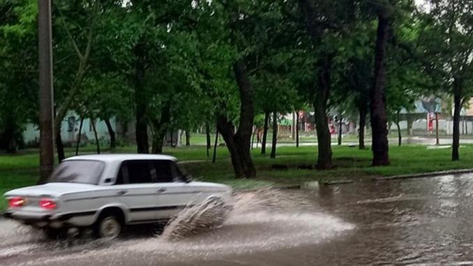 Ливень в Николаеве, ливневки, дожди, потоп