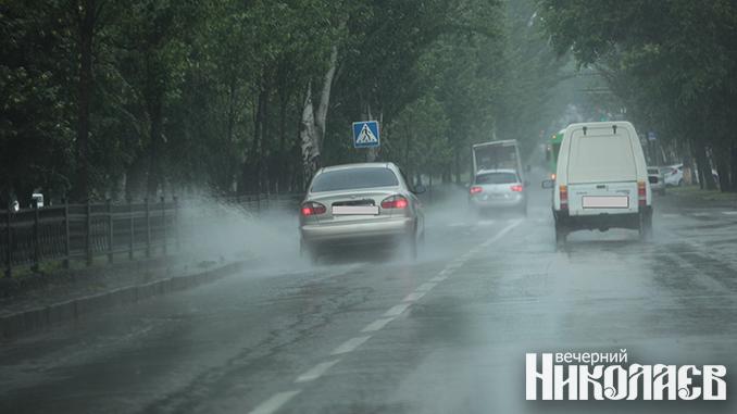 дождь, непогода, дормашина, элу автодорог, ливневая канализация