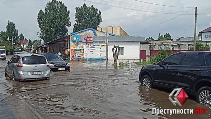 Коблево затопило после дождей