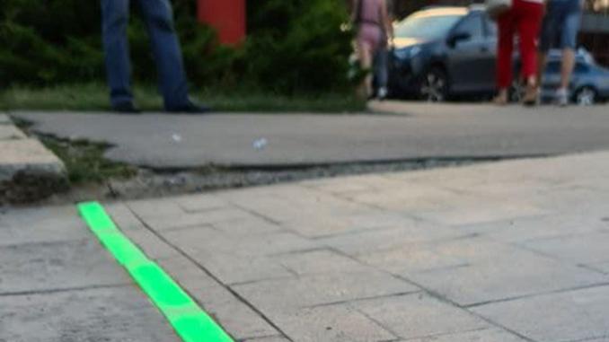 LED пешеходный переход в Николаеве, Садовая, CityCenter