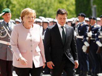 Владимир Зеленский, Ангела Меркель