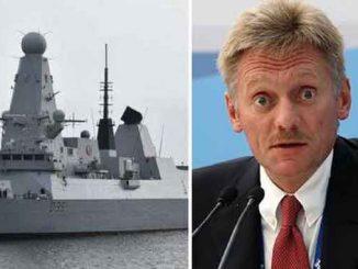 В Кремле пригрозили, HMS Defender, ВМС, Вликобритания, Рааб, Песков, конфликт, Черное море, Украина, Крым, оккупация, новости