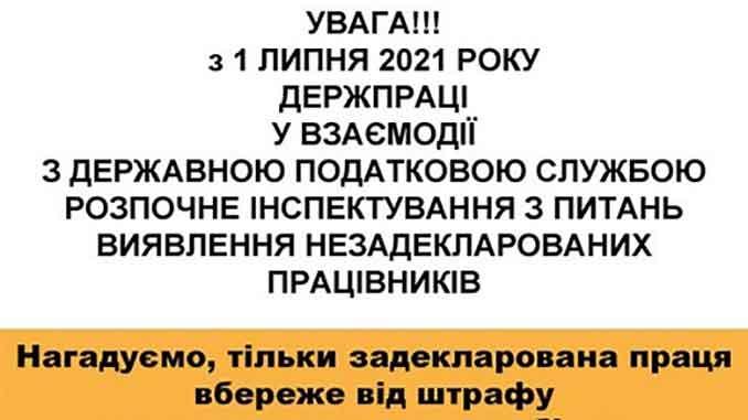 виявлення незадекларованих працівників, новини, Миколаів, Держпраці, інспектування, незадекларовані працівники, порушення, штрафи, відповідальність