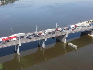 Пробка на Ингульском мосту