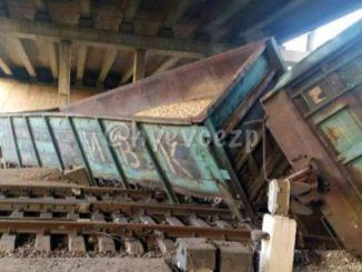 Авария в Запорожье, товарный поезд сошел с рельсов, товарняк
