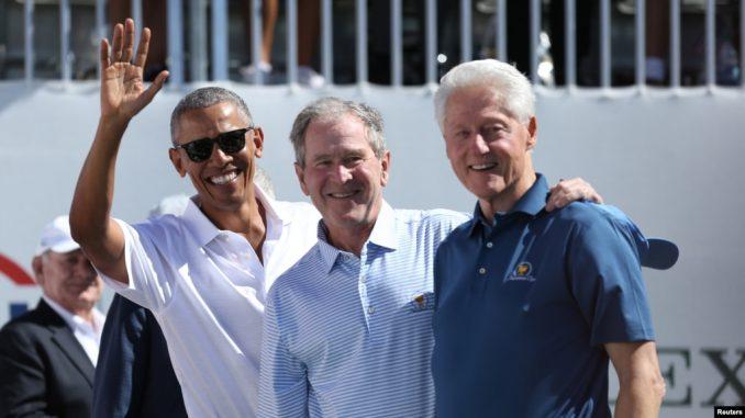 Барак Обама, Джордж Буш, Билл Клинтон