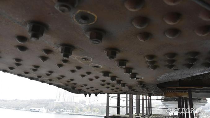 Варваровский мост, высокопрочные болты