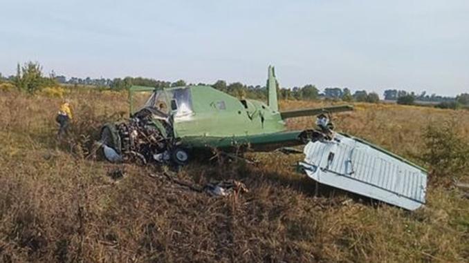 В Житомирской области упал самолет