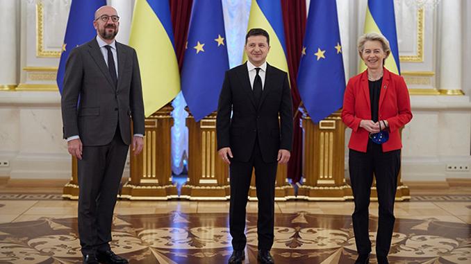 Саммит Украина ЕС, Владимир Зеленский, Урсула фон дер Ляйен