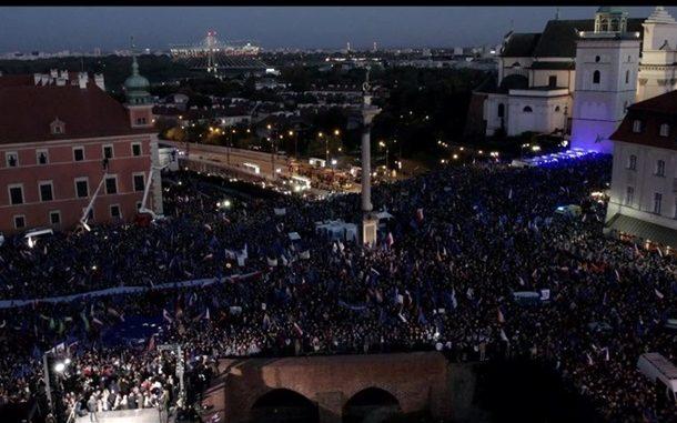 Варшава, протест, Евромайдан, Польша, Евросоюз, ЕС