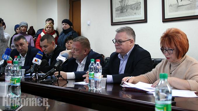 Пресс-конференция директоров ТЭЦ и Облтеплоэнерго, Николаев 16 января 2020 г.